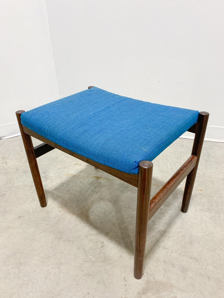 Mid-Century Modern Danish Rosewood Stool by Spottrup For Sale