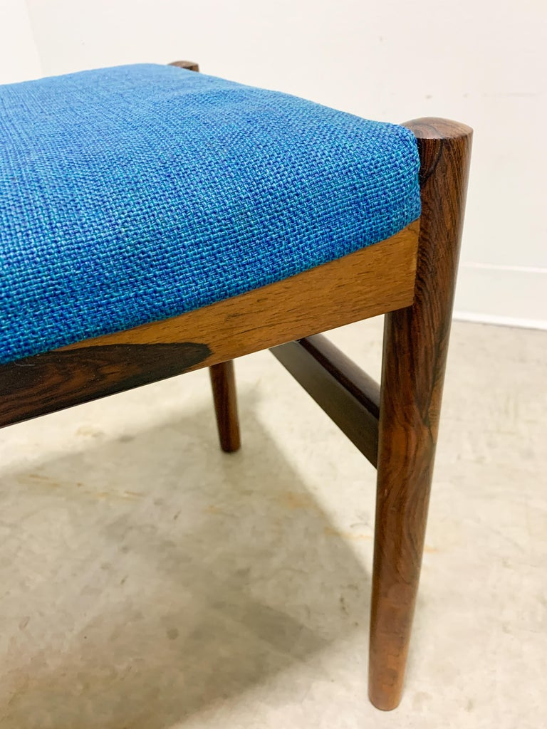 Wool Danish Rosewood Stool by Spottrup For Sale