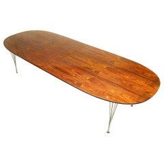 Danish Rosewood Super Ellipse Table by Piet Hein for Fritz Hansen
