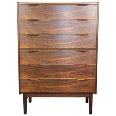 Danish Rosewood Tall Boy Dresser