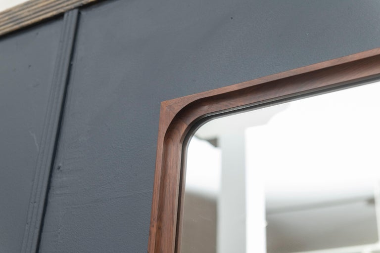 Mid-20th Century Danish Rosewood Wall Mirror and Matching Shelf For Sale