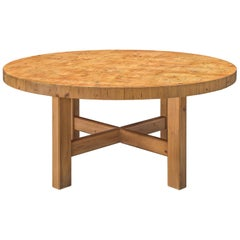 Danish Round Pine Table
