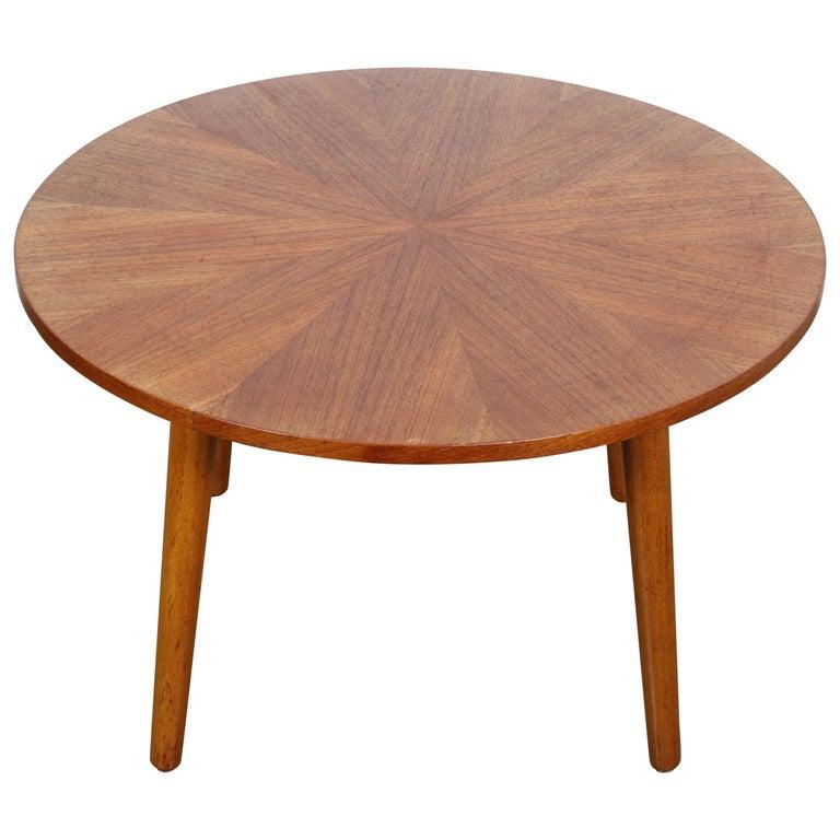 Danish Round Teak Coffee Table by Holger Georg Jensen ...