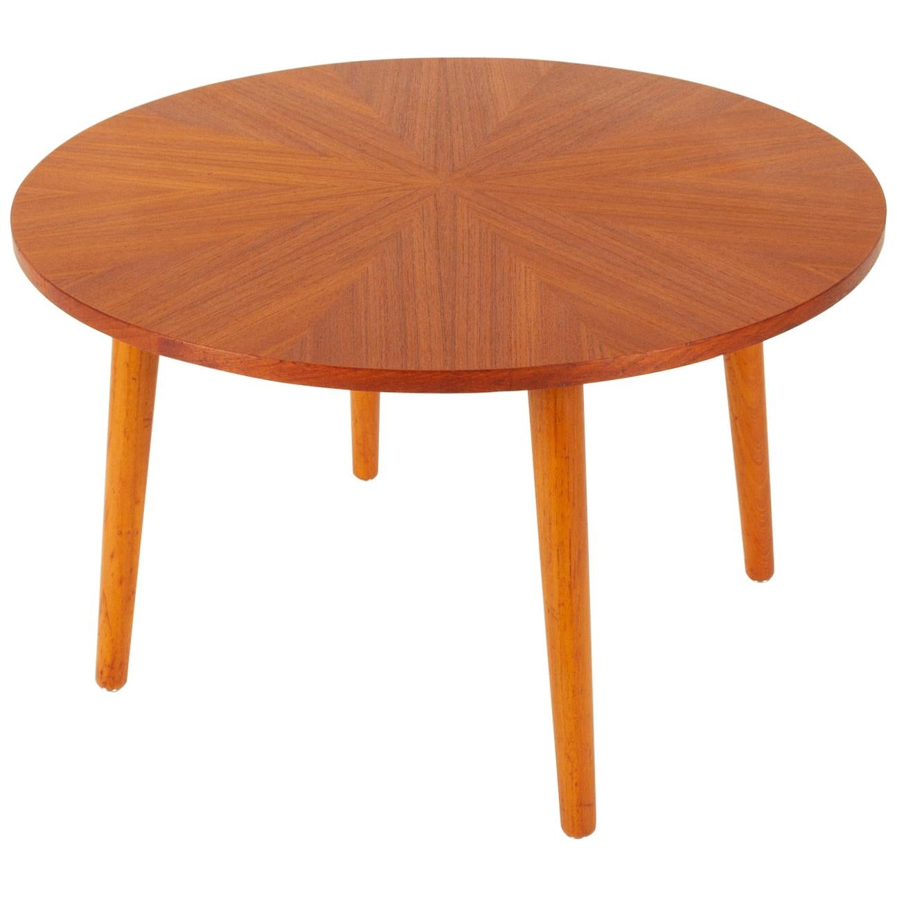 Danish Round Teak Coffee Table by Holger Georg Jensen, 1960s