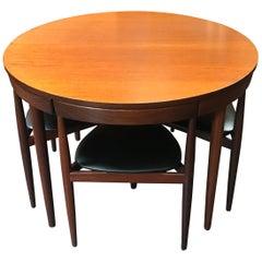 Danish Roundette Extending Midcentury Dining Set by Hans Olsen for Frem Rojle