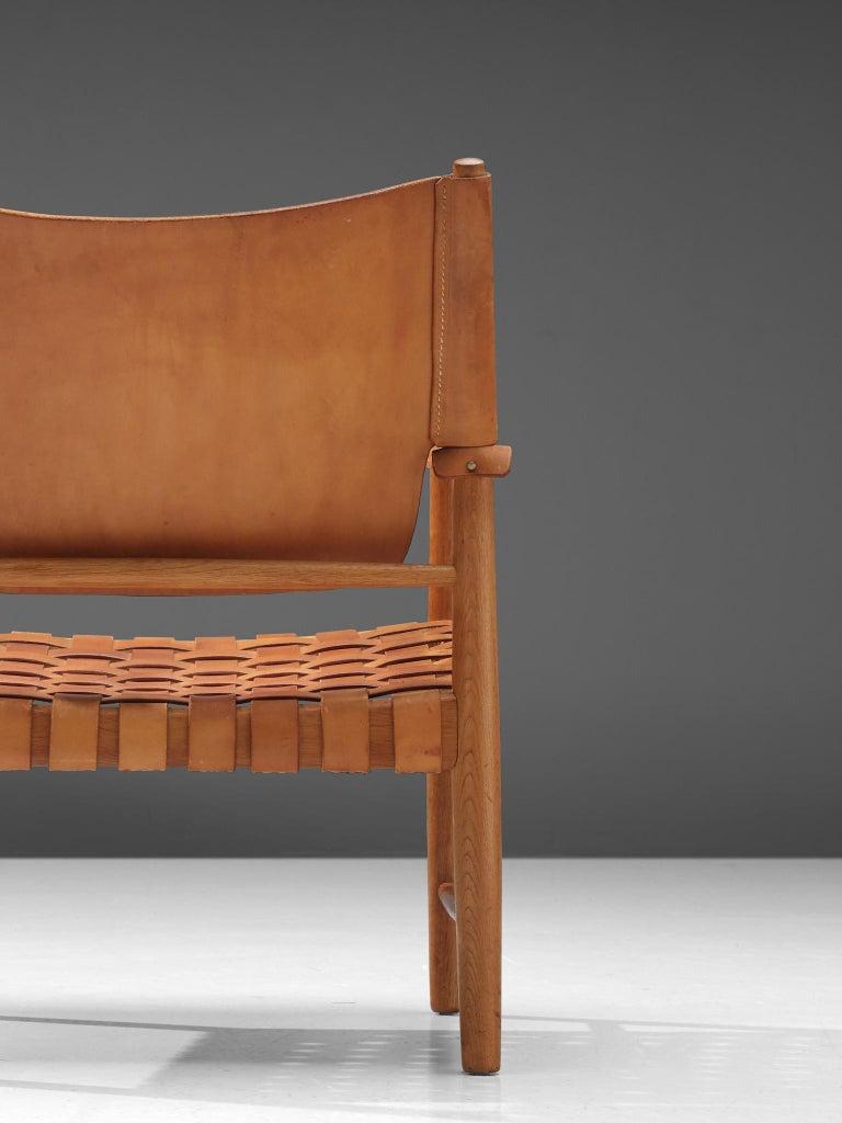 Danish Safari Chair in Cognac Leather 2