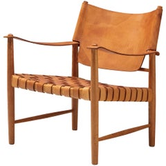 Danish Safari Chair in Cognac Leather