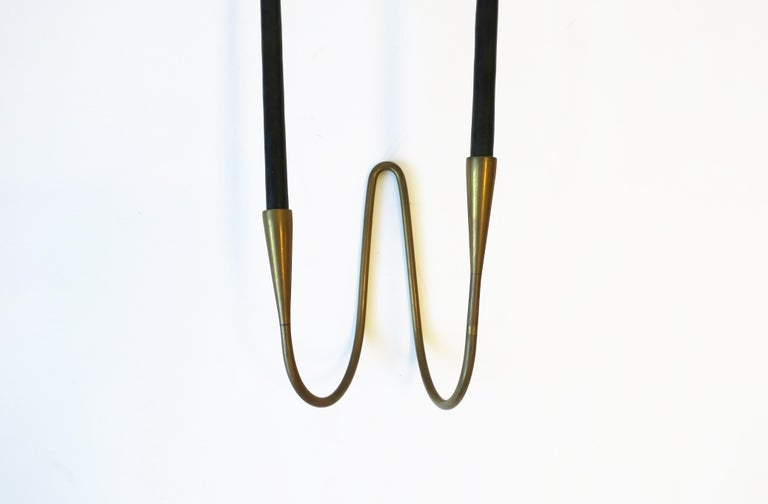 Danish Scandinavian Modern Brass Candle Wall Sconces, Pair 7