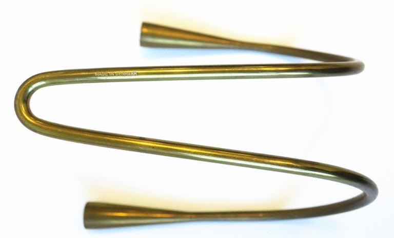 Danish Scandinavian Modern Brass Candle Wall Sconces, Pair 8