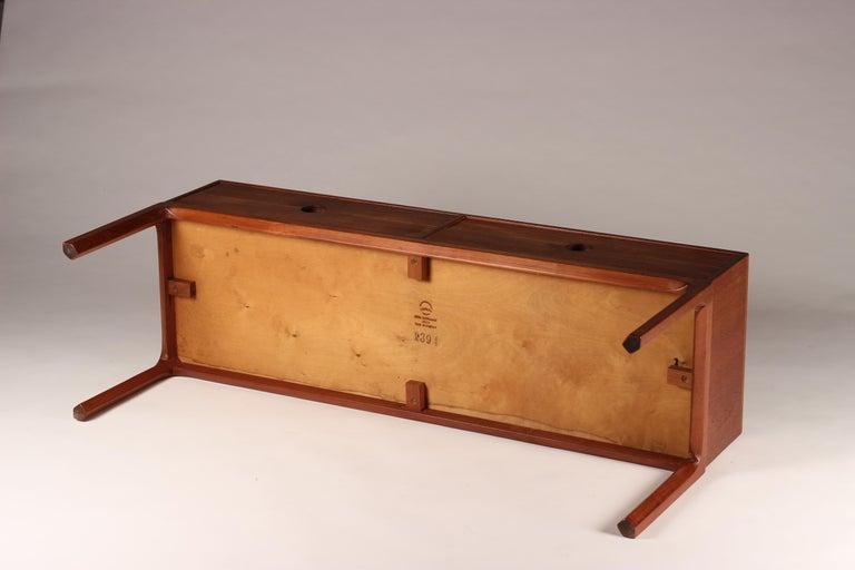 Scandinavian Modern Teak Low Sideboard No 394 by Kai Kristiansen For Sale 8