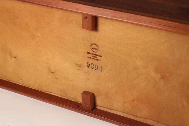 Scandinavian Modern Teak Low Sideboard No 394 by Kai Kristiansen For Sale 9