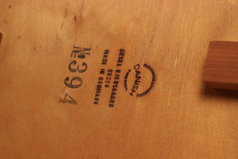 Scandinavian Modern Teak Low Sideboard No 394 by Kai Kristiansen For Sale 11