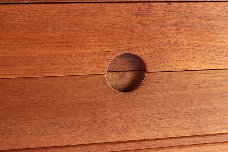 Scandinavian Modern Teak Low Sideboard No 394 by Kai Kristiansen For Sale 14