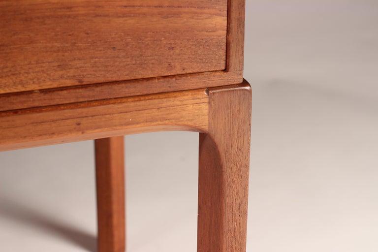 Scandinavian Modern Teak Low Sideboard No 394 by Kai Kristiansen For Sale 15