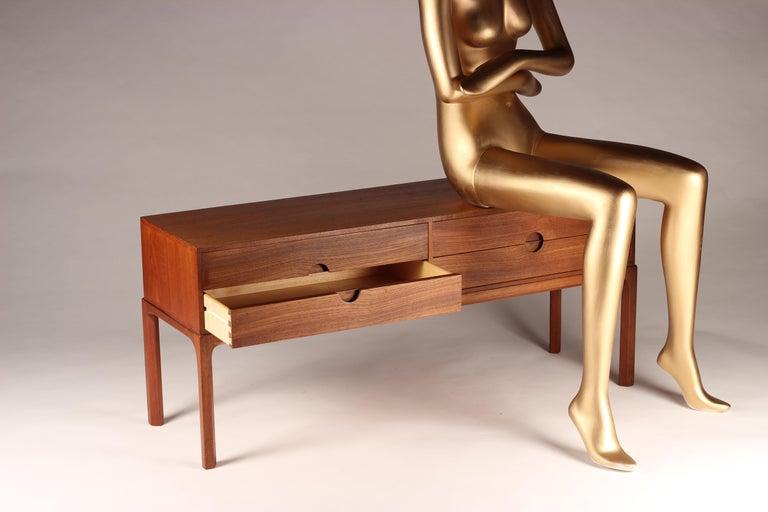 Danish Scandinavian Modern Teak Low Sideboard No 394 by Kai Kristiansen For Sale
