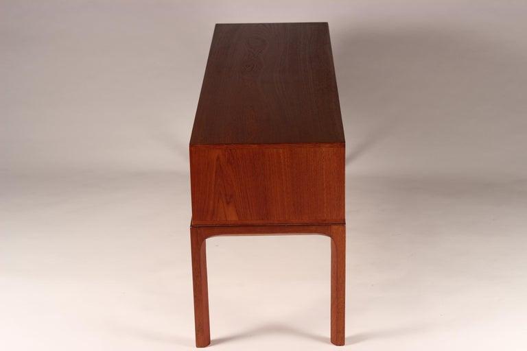 Scandinavian Modern Teak Low Sideboard No 394 by Kai Kristiansen For Sale 2