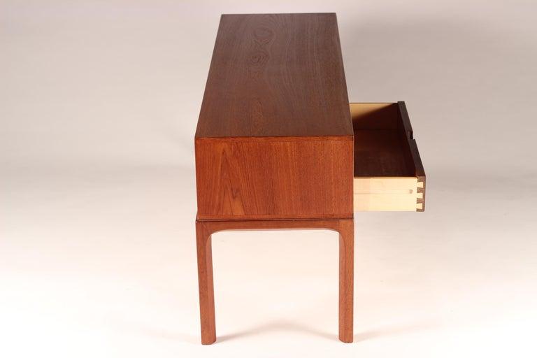 Scandinavian Modern Teak Low Sideboard No 394 by Kai Kristiansen For Sale 3