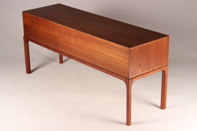 Scandinavian Modern Teak Low Sideboard No 394 by Kai Kristiansen For Sale 4