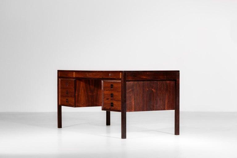 Danish Scandinavian Rosewood Desk by Arne Vodder Vintage Midcentury Design, 1960 5