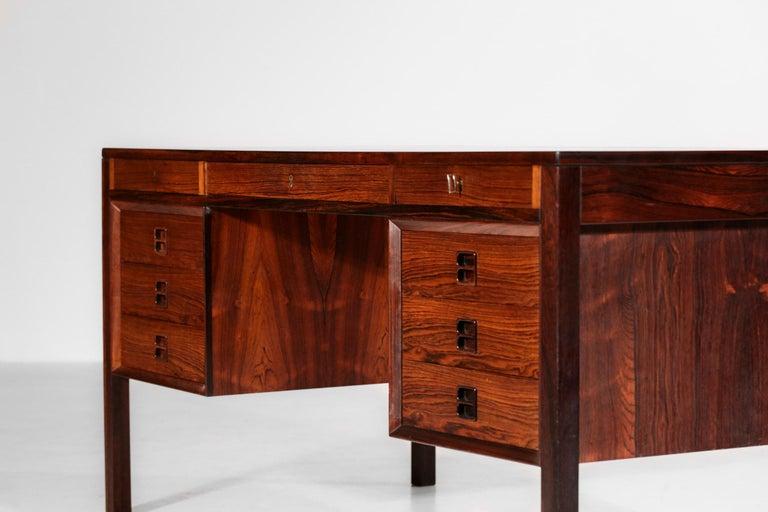 Danish Scandinavian Rosewood Desk by Arne Vodder Vintage Midcentury Design, 1960 6