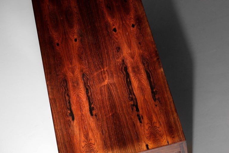 Danish Scandinavian Rosewood Desk by Arne Vodder Vintage Midcentury Design, 1960 7