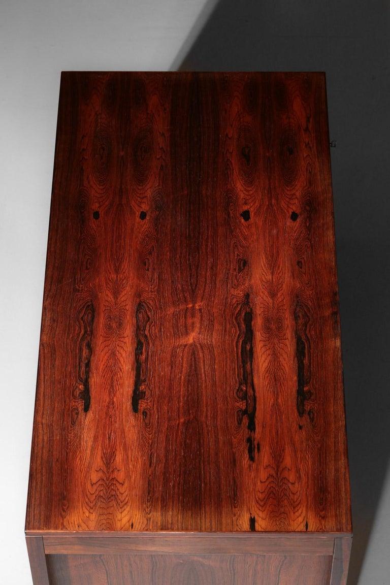 Danish Scandinavian Rosewood Desk by Arne Vodder Vintage Midcentury Design, 1960 8