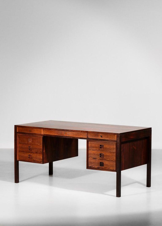 Mid-20th Century Danish Scandinavian Rosewood Desk by Arne Vodder Vintage Midcentury Design, 1960