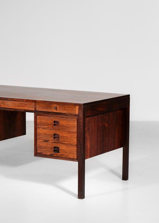 Danish Scandinavian Rosewood Desk by Arne Vodder Vintage Midcentury Design, 1960 2