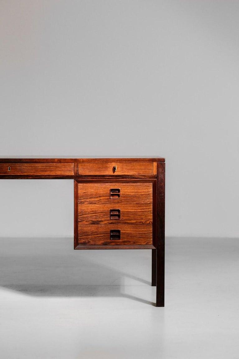 scandinavian desk by Arne Vodder in rosewood.