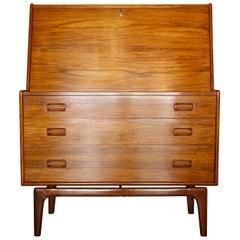Danish Secretary Desk by Arne Hovmand Olsen for Mogens Kold, 1960s
