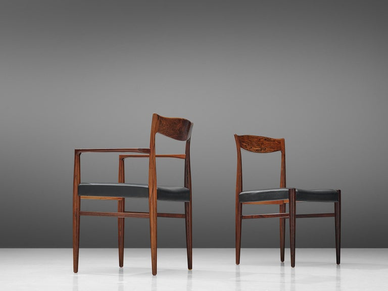 Mid-20th Century Danish Set of Dining Chairs in Rosewood For Sale
