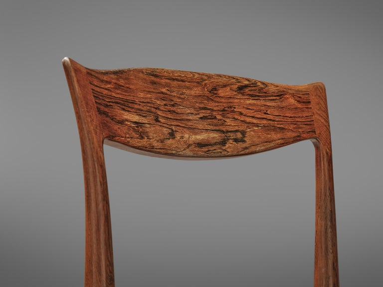 Danish Set of Dining Chairs in Rosewood For Sale 1