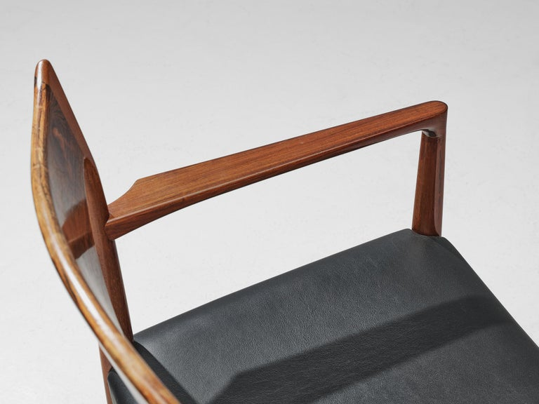 Danish Set of Dining Chairs in Rosewood For Sale 2