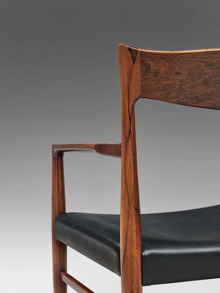 Danish Set of Dining Chairs in Rosewood For Sale 3