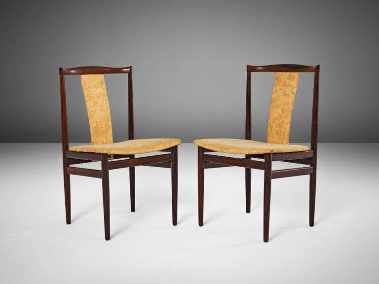 Danish Set of Eight Rosewood Dining Chairs In Good Condition For Sale In Waalwijk, NL