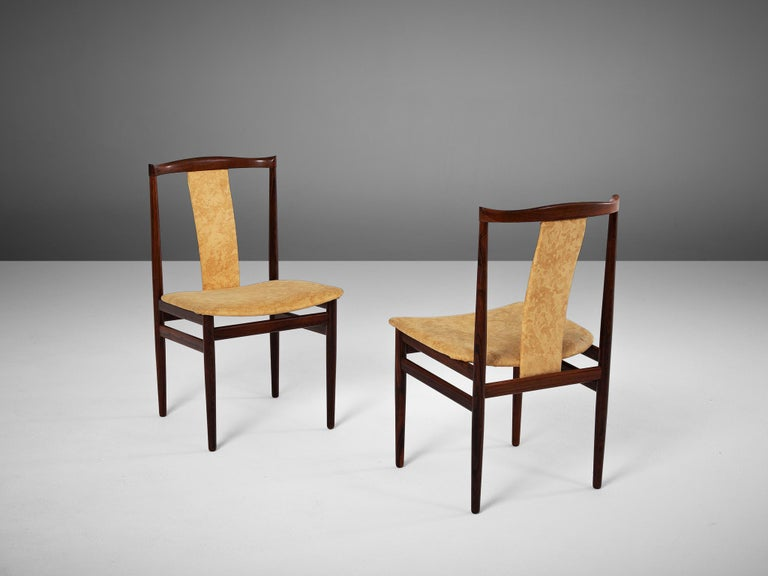 1940s Danish Set of Eight Rosewood Dining Chairs For Sale