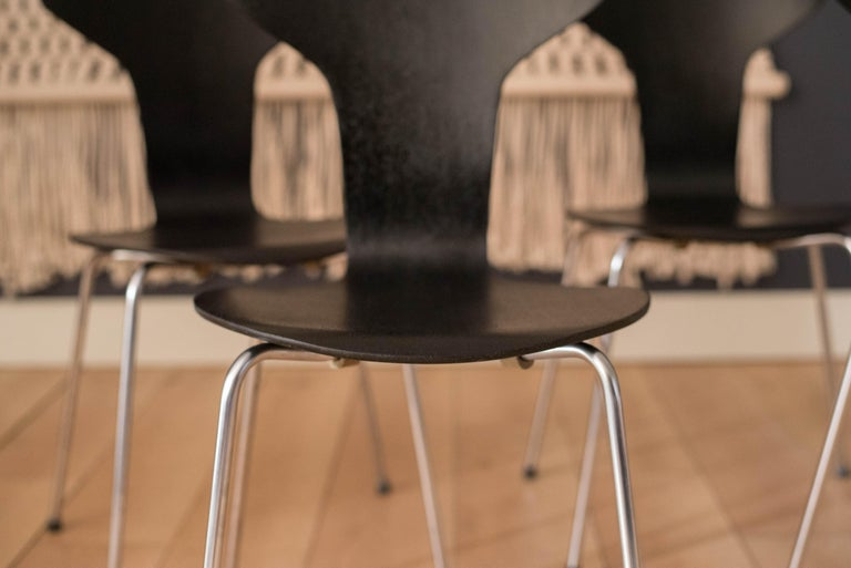 Mid-20th Century Danish Mosquito Munkegård Dining Chairs by Arne Jacobsen For Sale