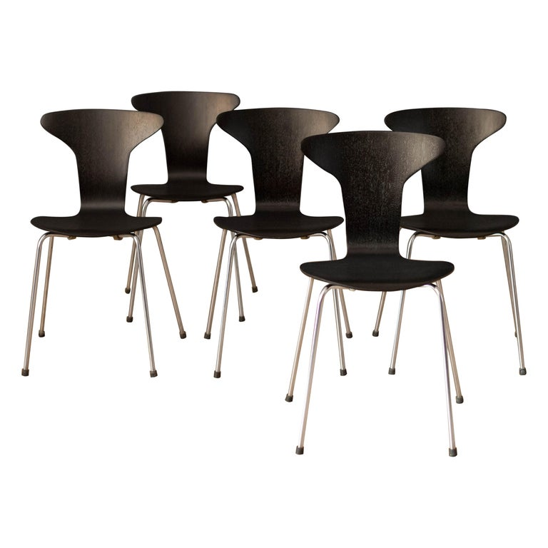 Danish Mosquito Munkegård Dining Chairs by Arne Jacobsen For Sale