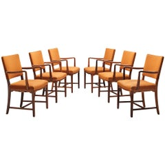 Danish Set of Six Armchairs in Solid Rosewood