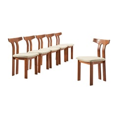 Danish Set of Six Dining Chairs with T-Shaped Backrests