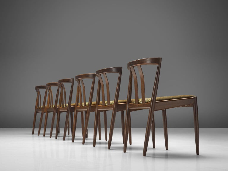 Danish Set of Six Teak Dining Chairs, 1960s In Good Condition For Sale In Waalwijk, NL