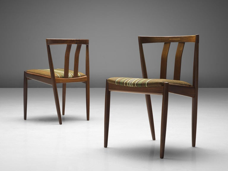 Mid-20th Century Danish Set of Six Teak Dining Chairs, 1960s For Sale