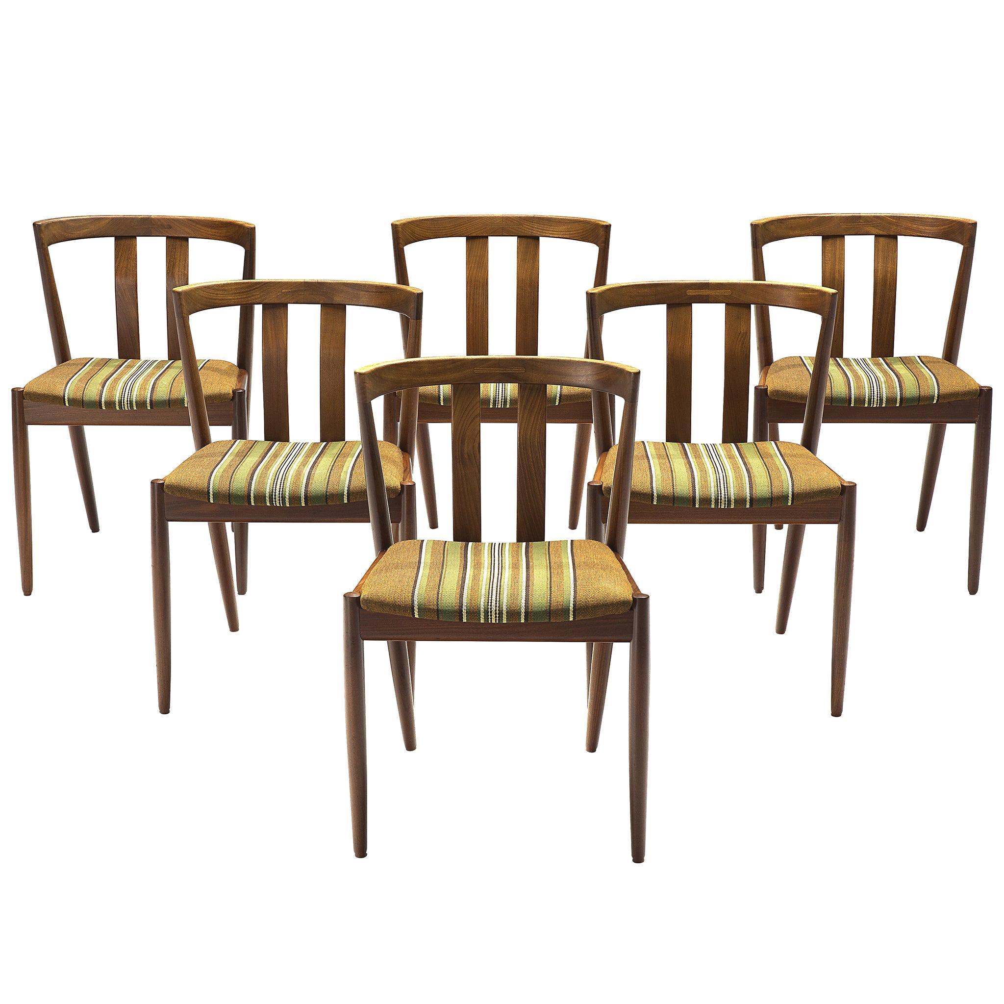 Danish Set of Six Teak Dining Chairs, 1960s