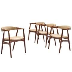 Danish Set of Walnut Dining Chairs