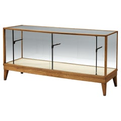 Danish Showcase in Oak and Glass