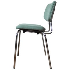 Danish Side Chair by Duba, Chromed Frame and New Kvadrat Upholstery