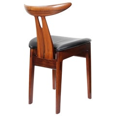 Danish Side Chair in Rosewood by Vilhelm Wohlert