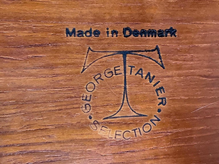 Danish Side Table by George Tanier For Sale 6