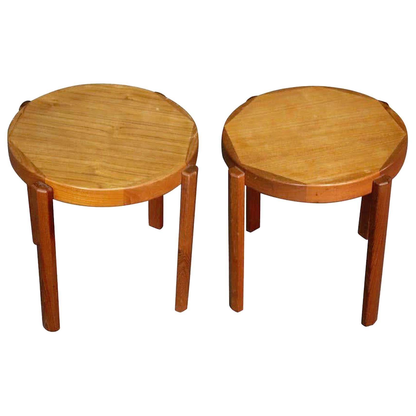 Danish Side Tables in Teak