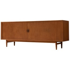 Danish Sideboard in Teak with Tambour Doors